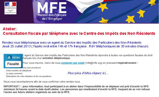 Consultation fiscale par téléphone
