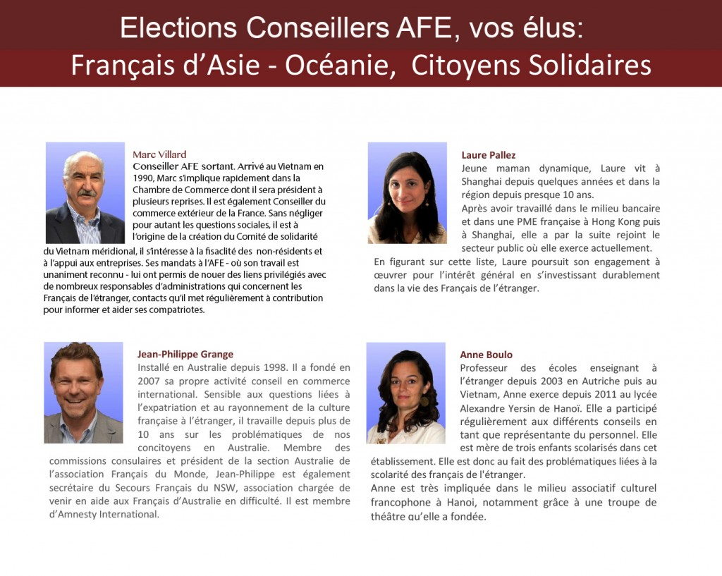 Candidats AFE