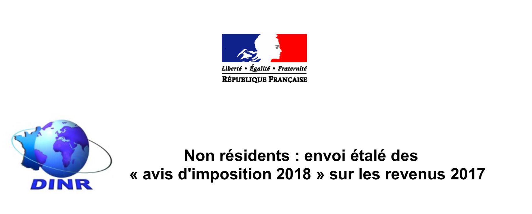 La Dinr Communique Envoi Etale Des Avis D Imposition 2018 Sur
