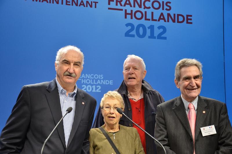 Avec Claire Guilbaud, René Aicardie et Michel Testard