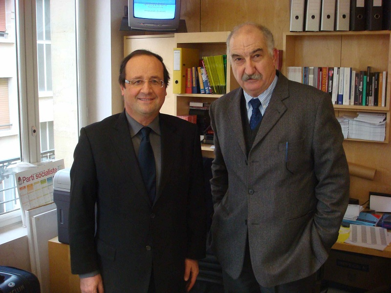 Avec François Hollande en 2010
