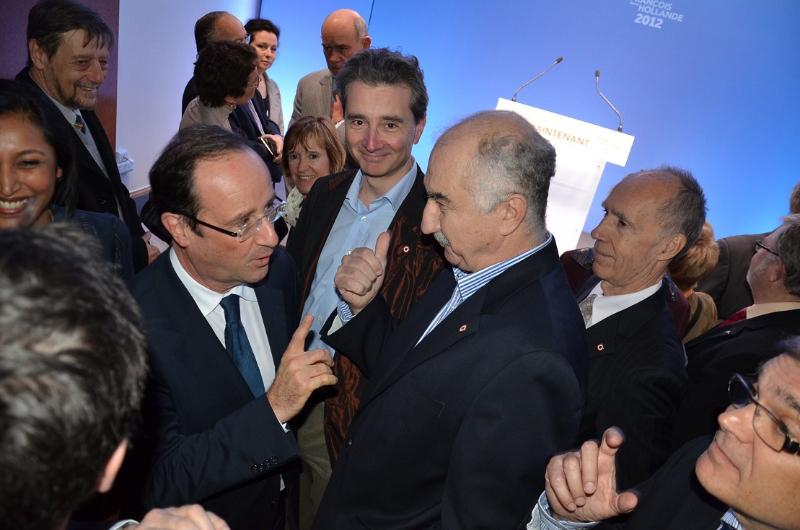 Avec François Hollande