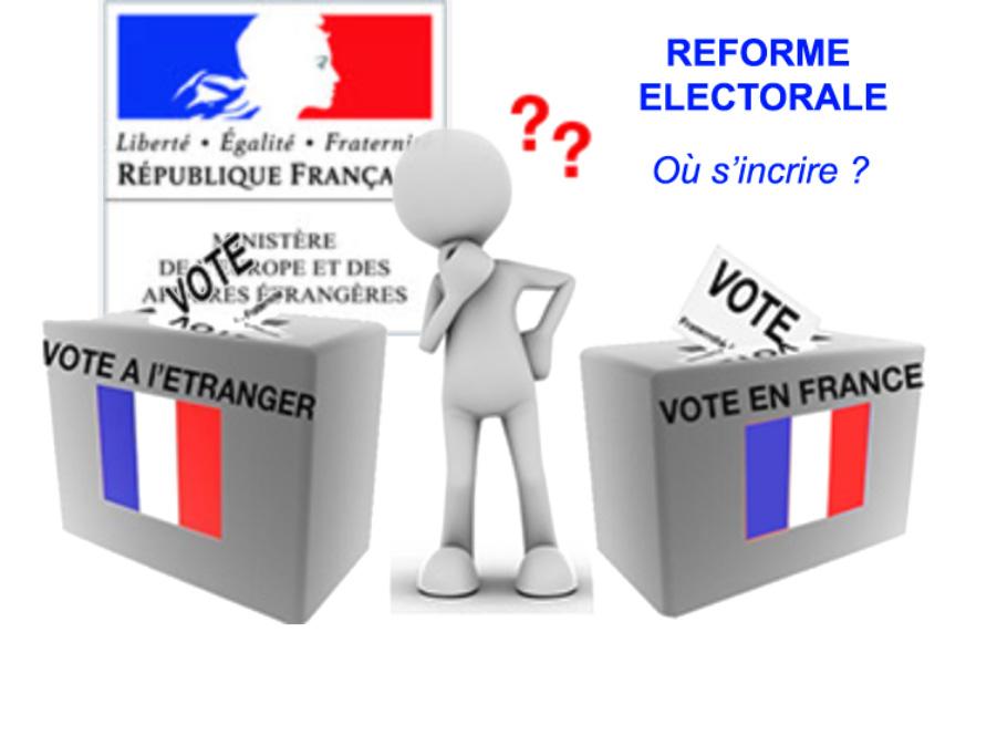 Réforme Electorale: Choisissez votre liste électorale d'inscription dès 2018