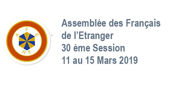 Session plénière AFE, 11 au 15 Mars 2019