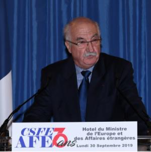 Discours de M.Villard, président de l'AFE, dans le cadre de la célébration des 70 ans de la représentation non parlementaire des Français de l'Etranger