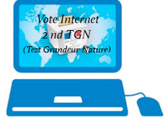 Vote ''Internet'': Second Test Grandeur Nature  (TGN)