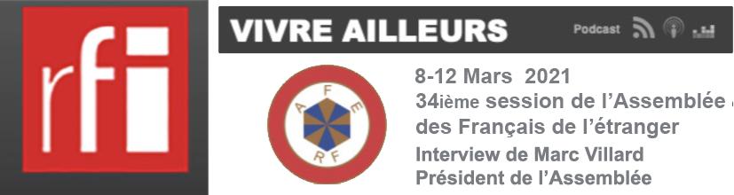 RFI. Interview de Marc Villard président  de l'Assemblée des Français  de l'Etranger.