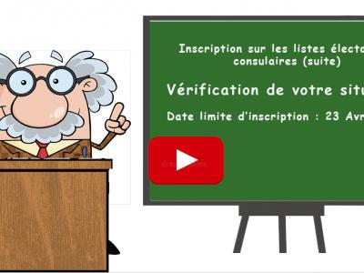 Un tutoriel pour vous aider à vérifier votre situation électorale