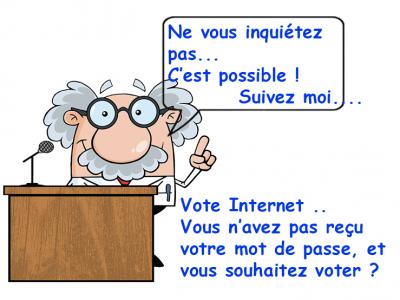 Vote Internet …Vous n'avez pas reçu le SMS avec votre mot de passe…mais vous voulez voter par Internet ?